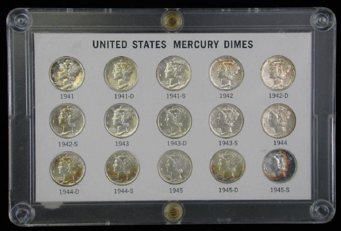 Mercury Dime Collection : 1941-1945