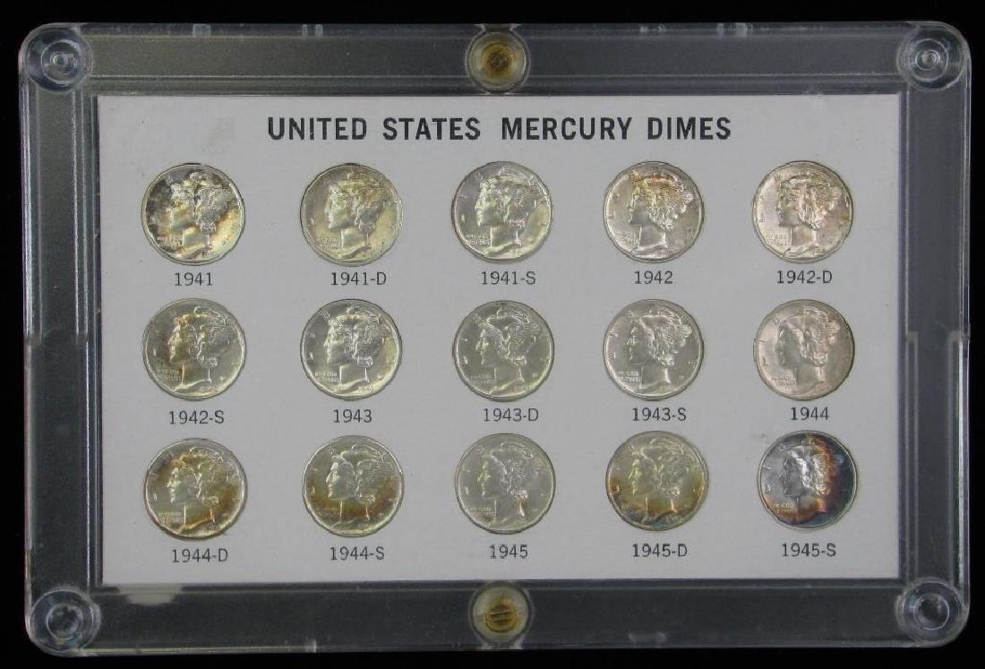 Mercury Dime Collection : 1941-1945