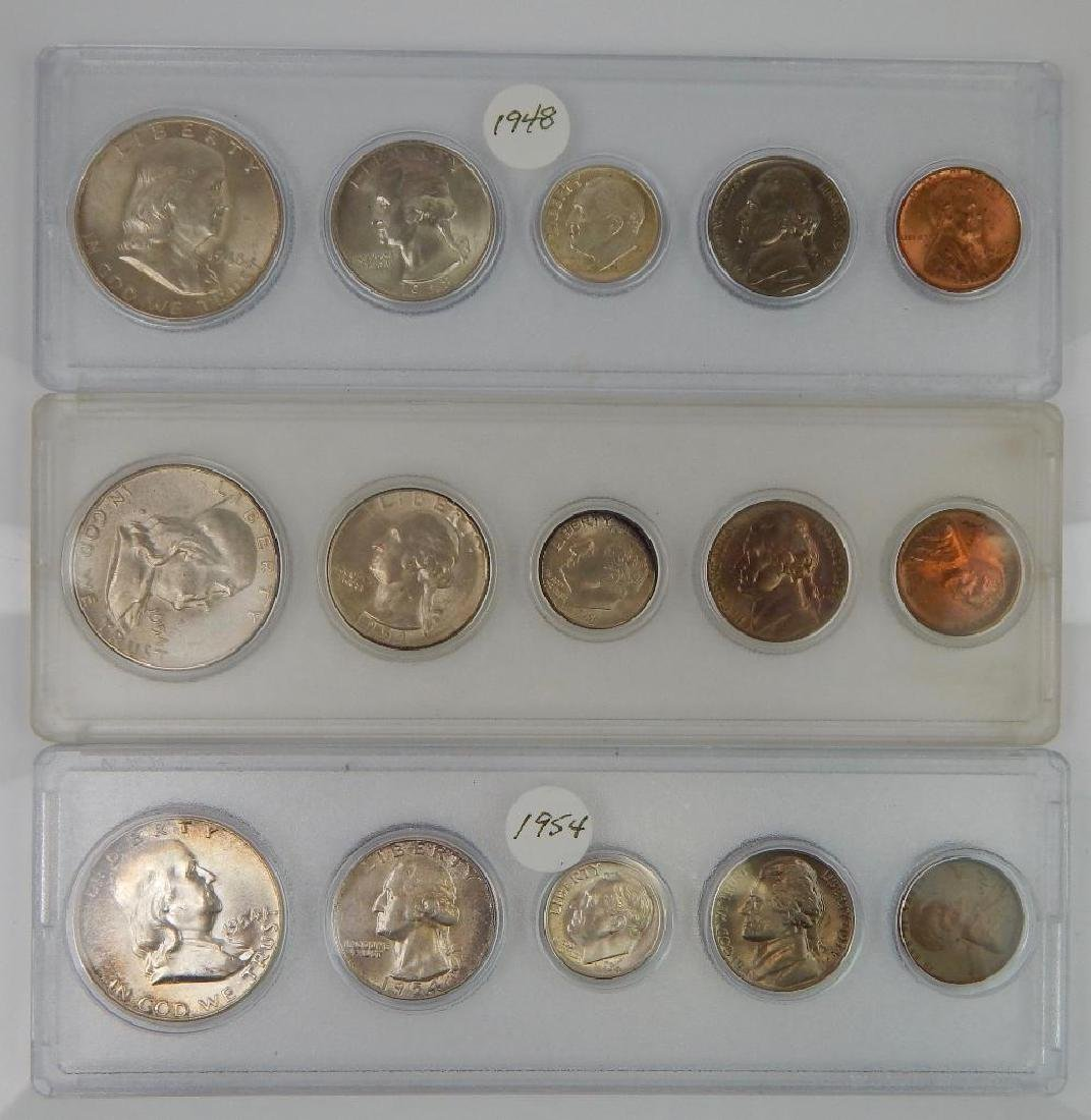 Lot of 9 Coin Sets : 1937-1964 - 3