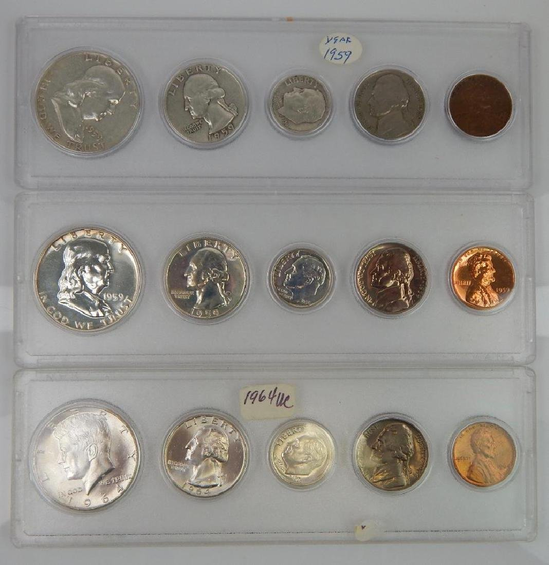 Lot of 9 Coin Sets : 1937-1964 - 4
