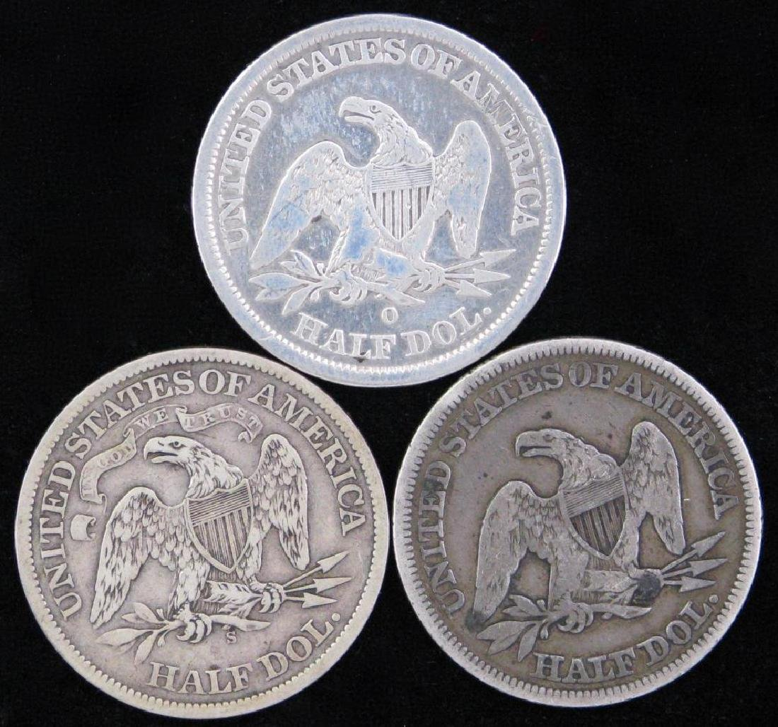 Lot of 3 : Liberty Seated Half Dollars - 2