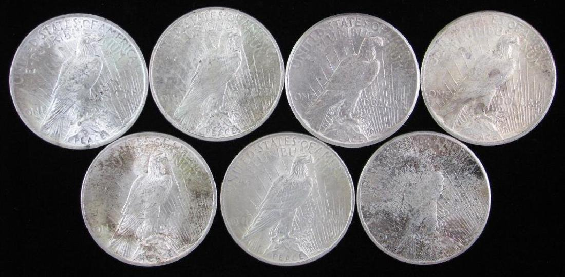 Lot of 7 : Peace Dollars 1922-1927 - 2