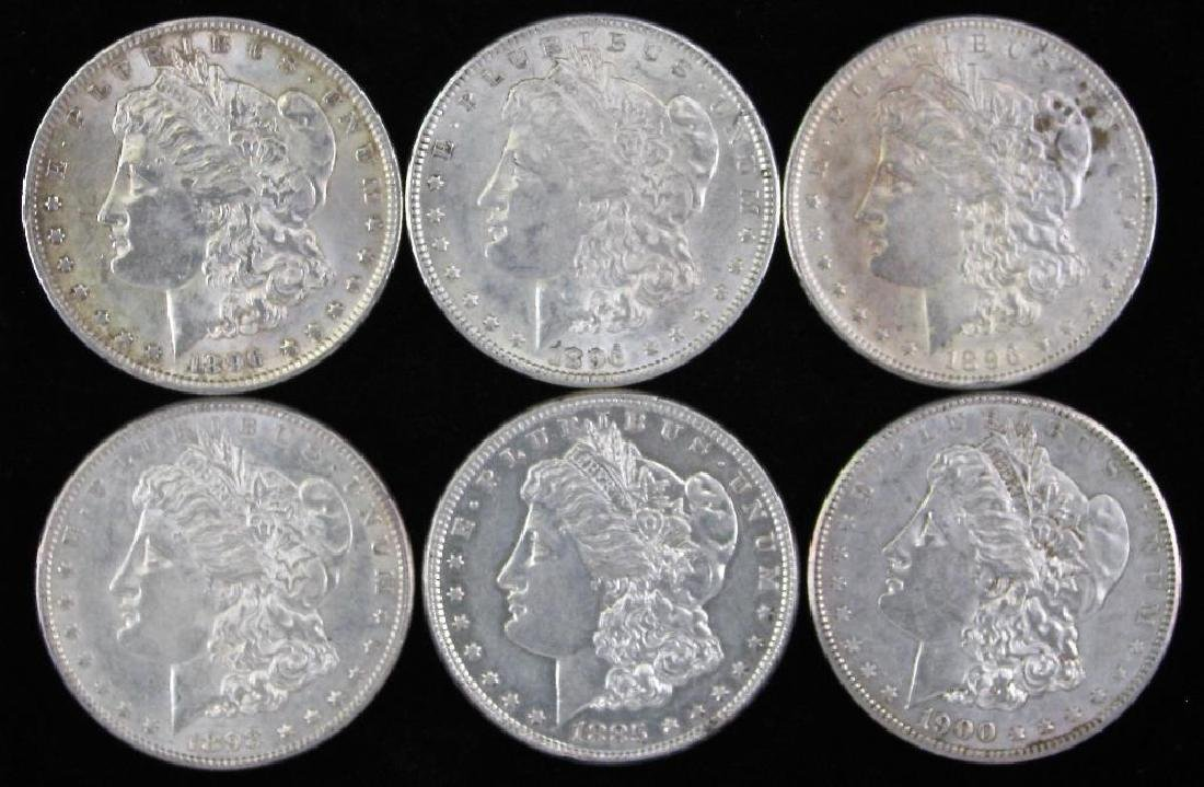 Lot of 6Ê: Morgan Dollars 1885-1900