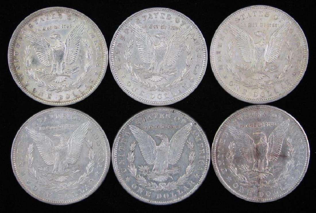 Lot of 6Ê: Morgan Dollars 1885-1900 - 2