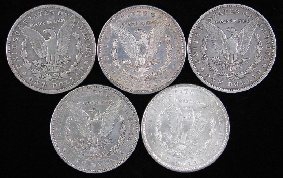Lot of 5 : Morgan Dollars 1879-1896 - 2