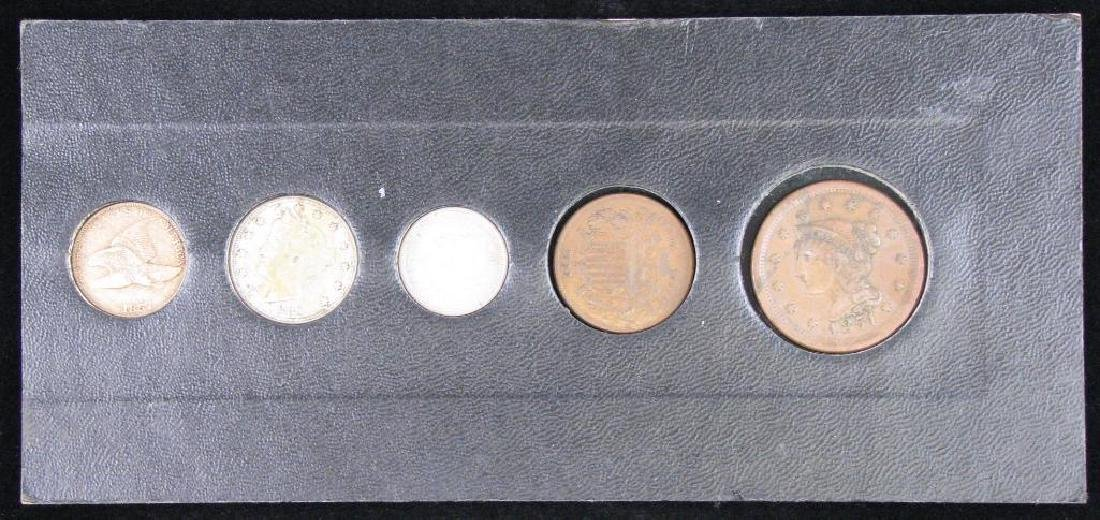 Set of 5 Type Coins : 1851-1883