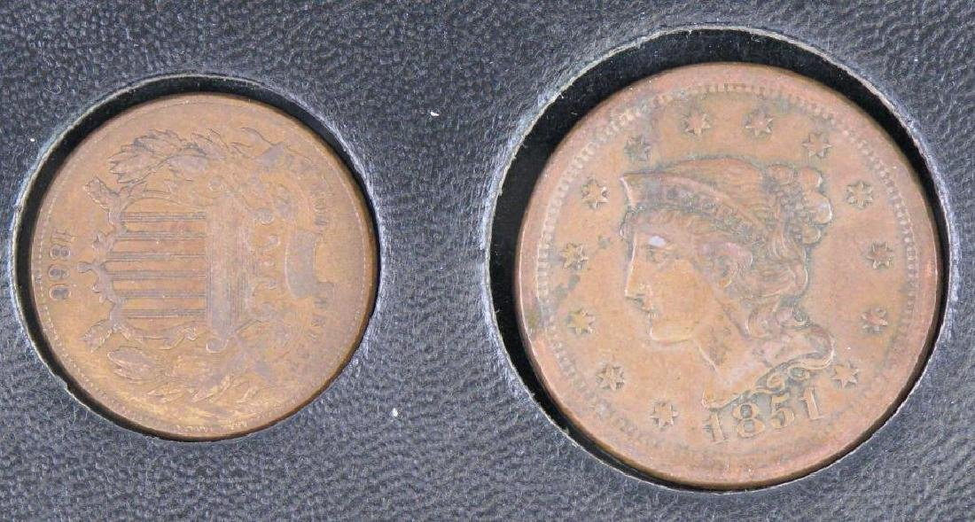 Set of 5 Type Coins : 1851-1883 - 2