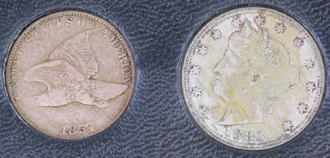 Set of 5 Type Coins : 1851-1883 - 4