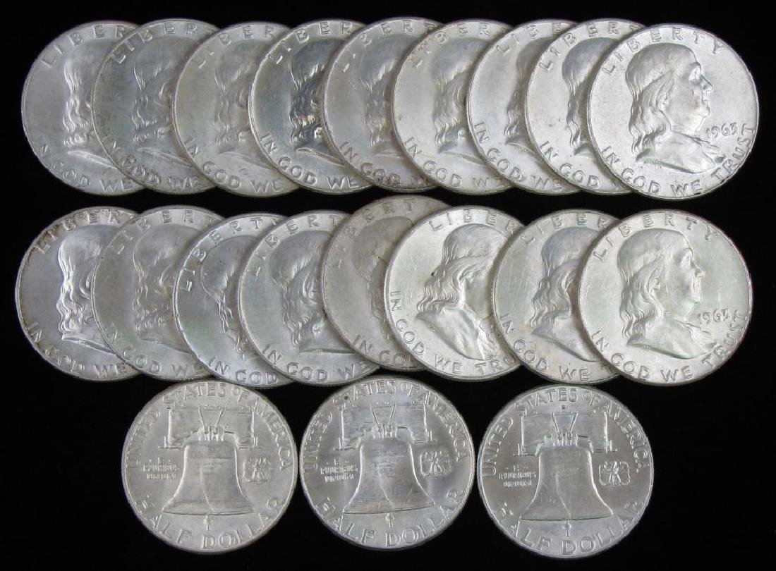 Group of 20 : Franklin Half Dollars (1960-1963)