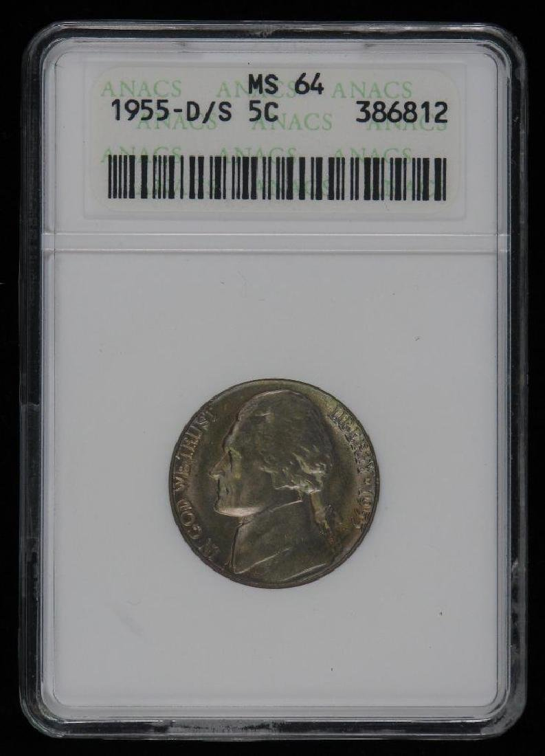 1955-D/S Jefferson Nickel