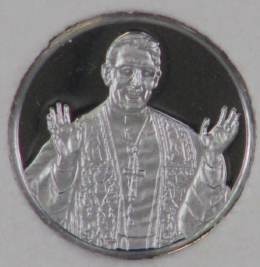 "Platinum 10mm Limited Edition ""Mini-coin"" : Pope John - 3"