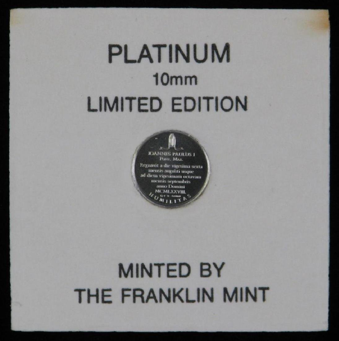 "Platinum 10mm Limited Edition ""Mini-coin"" : Pope John - 4"