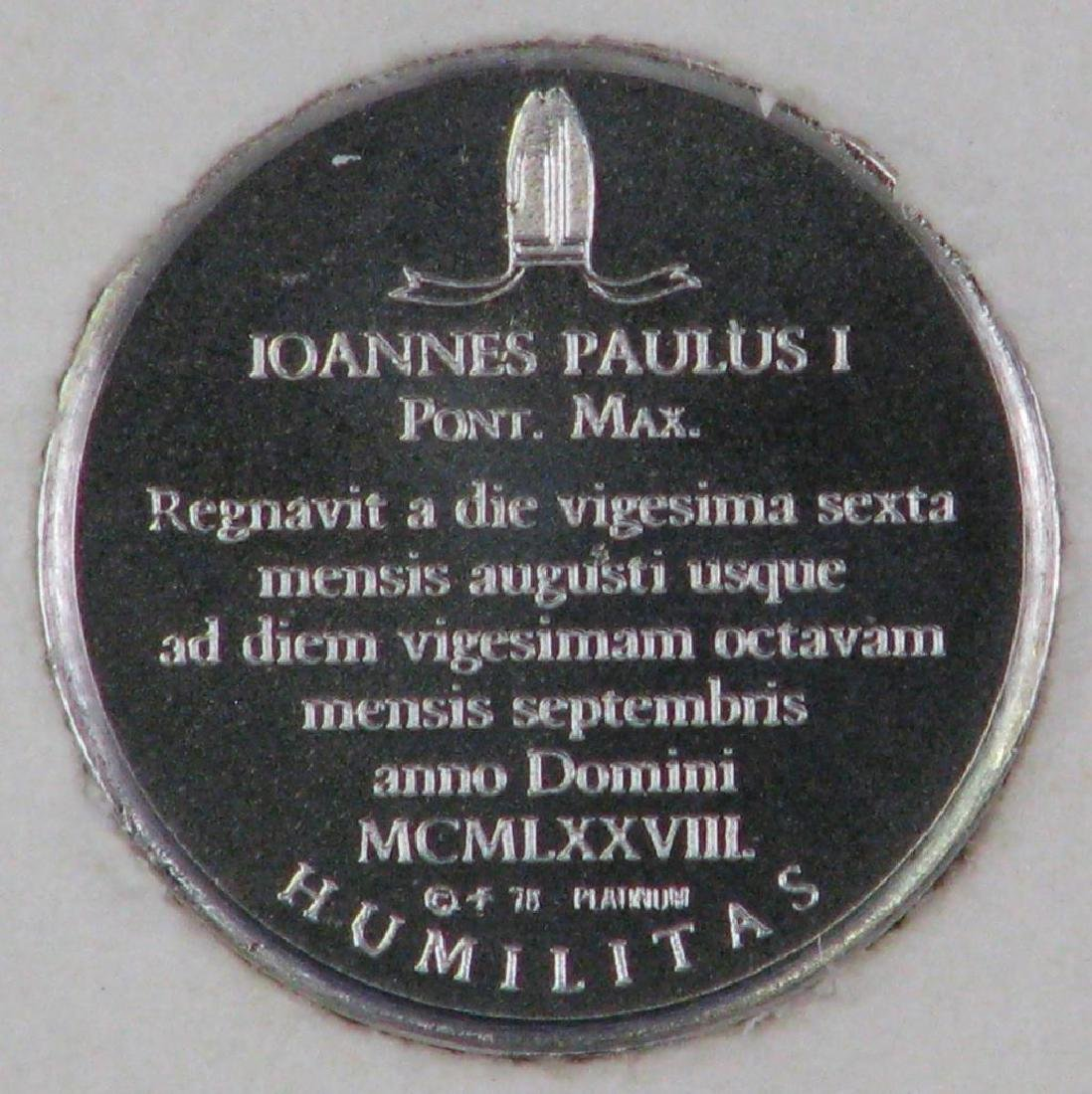 "Platinum 10mm Limited Edition ""Mini-coin"" : Pope John - 5"