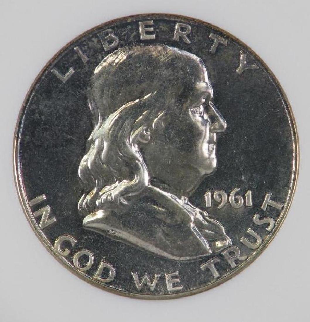 Lot of 4 : Franklin Half Dollars (1955-1961) - 11