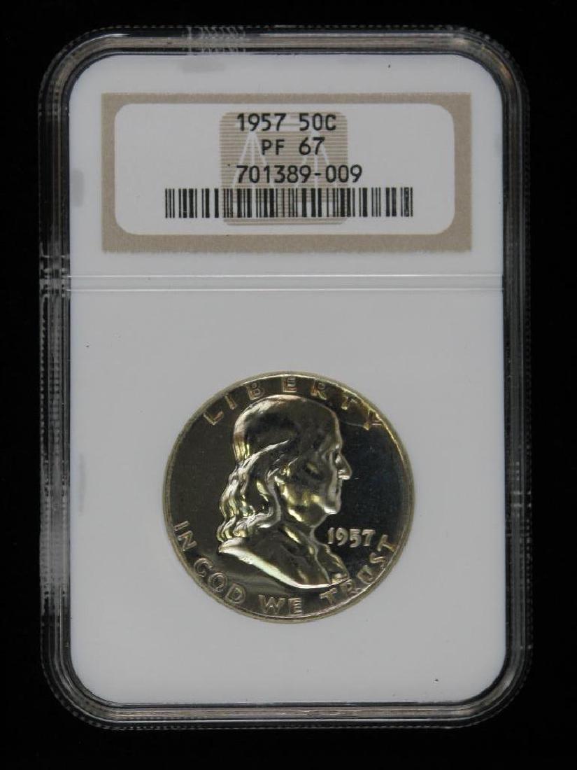 Lot of 4 : Franklin Half Dollars (1955-1961) - 13