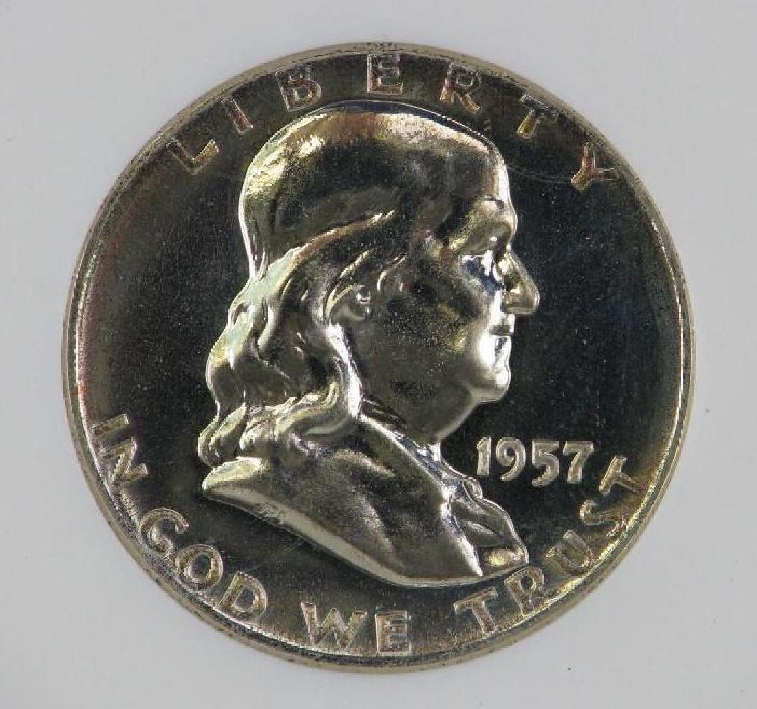 Lot of 4 : Franklin Half Dollars (1955-1961) - 15