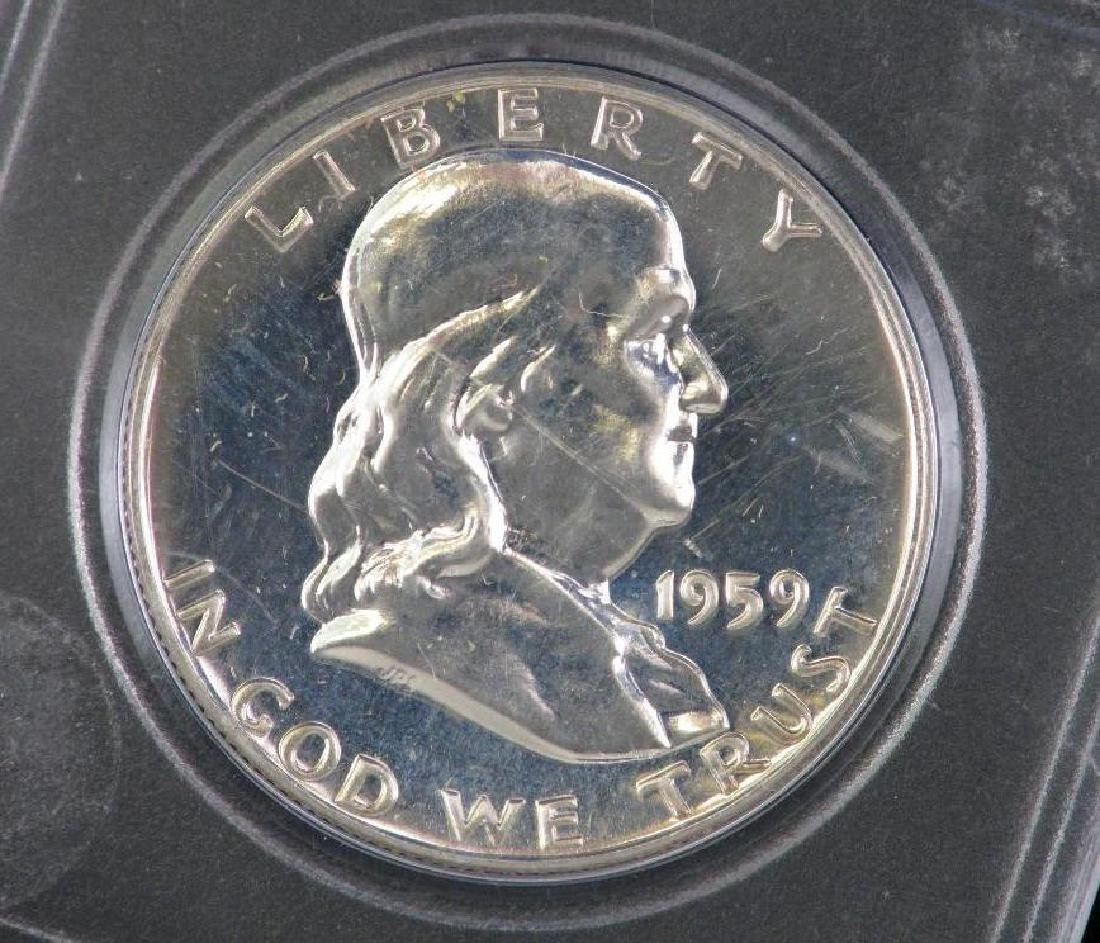 Lot of 4 : Franklin Half Dollars (1955-1961) - 2