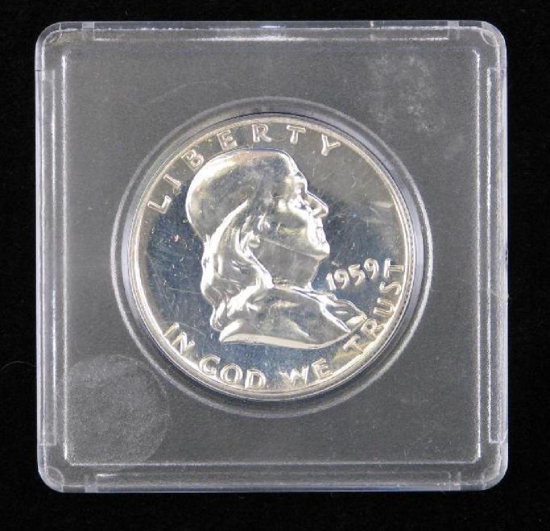 Lot of 4 : Franklin Half Dollars (1955-1961) - 4