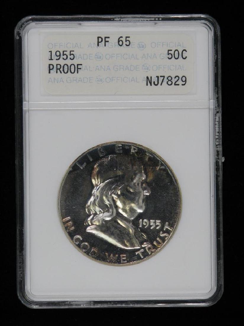 Lot of 4 : Franklin Half Dollars (1955-1961) - 5