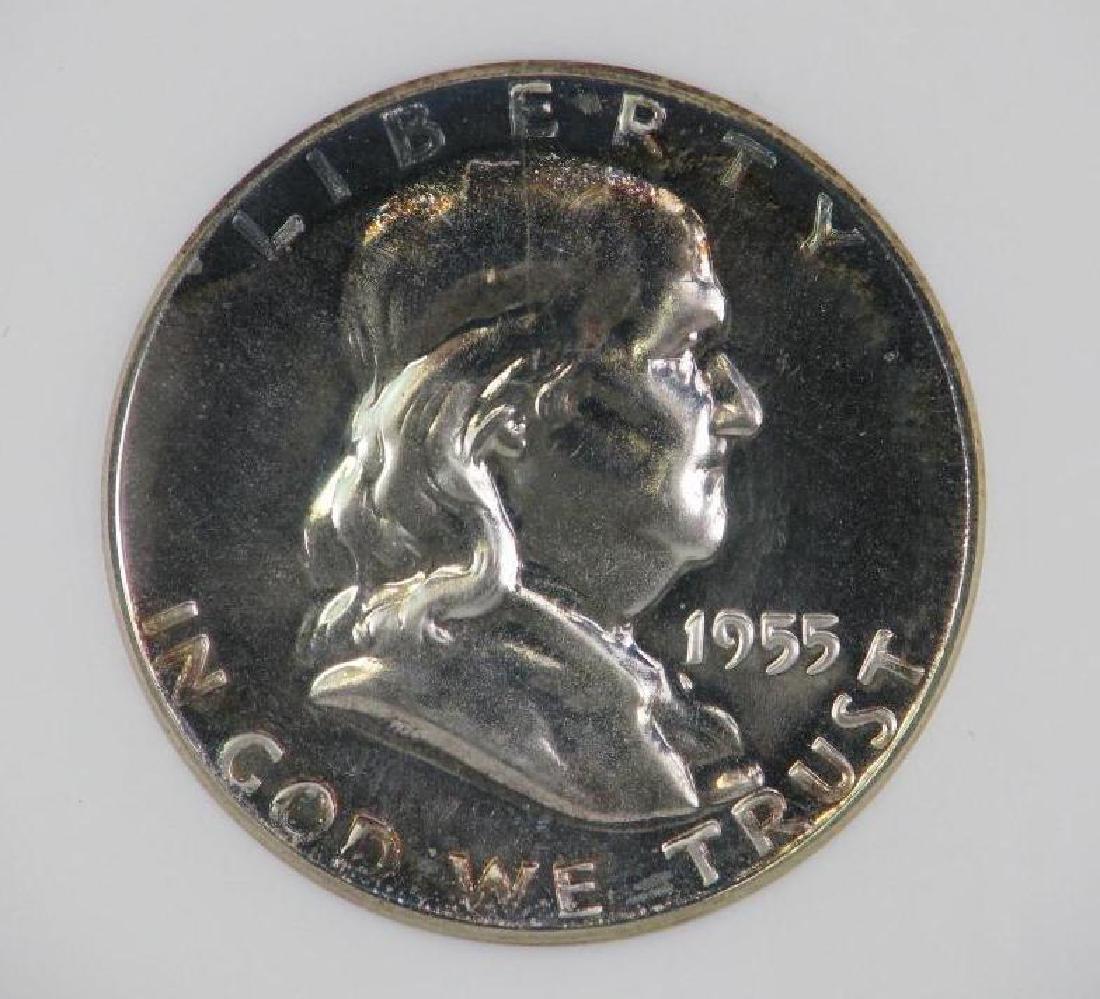 Lot of 4 : Franklin Half Dollars (1955-1961) - 7