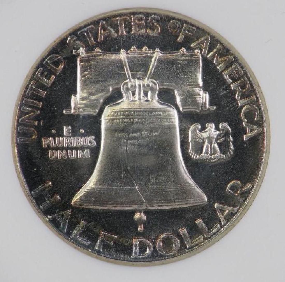 Lot of 4 : Franklin Half Dollars (1955-1961) - 8