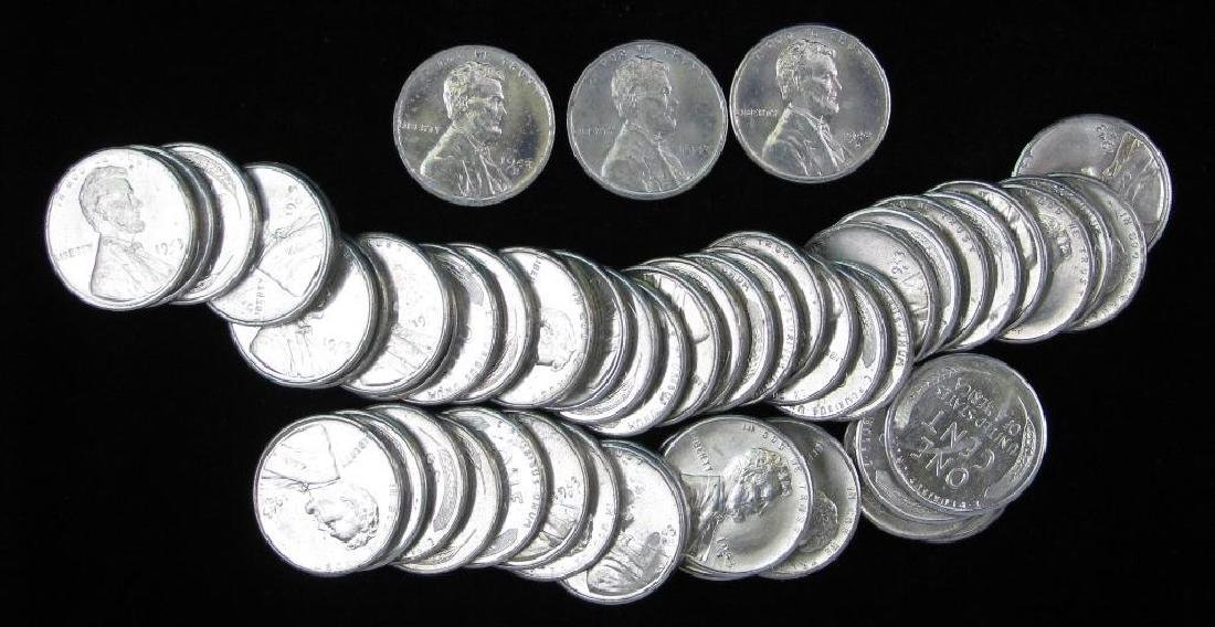 Lot of Steel Cents : Gem BU - unspotted