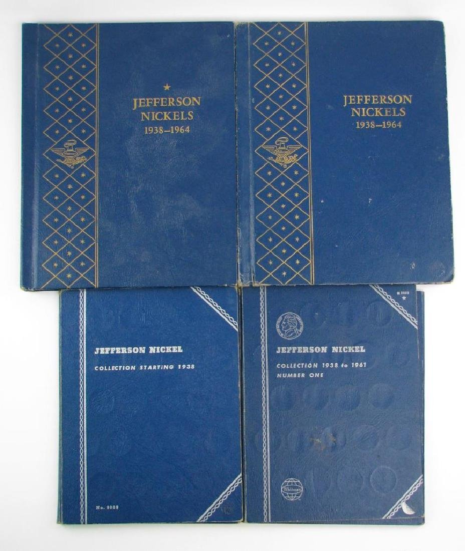 Lot of 4 Coin Folders : Jefferson Nickel Collections