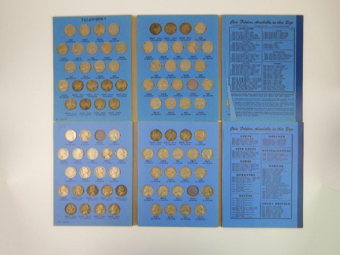 Lot of 4 Coin Folders : Jefferson Nickel Collections - 2