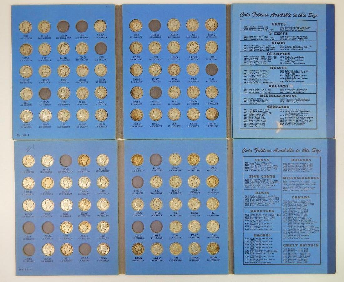 Lot of 2 Coin Folders : Mercury Head Dime Collections - 2