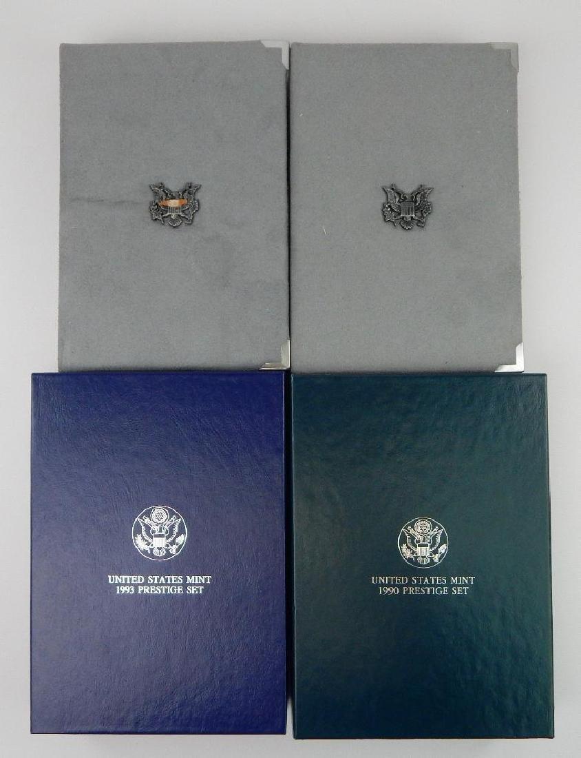 Lot of 4 : U.S. Mint Prestige Sets (1986-1993)