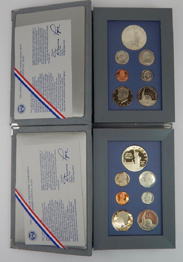Lot of 4 : U.S. Mint Prestige Sets (1986-1993) - 2
