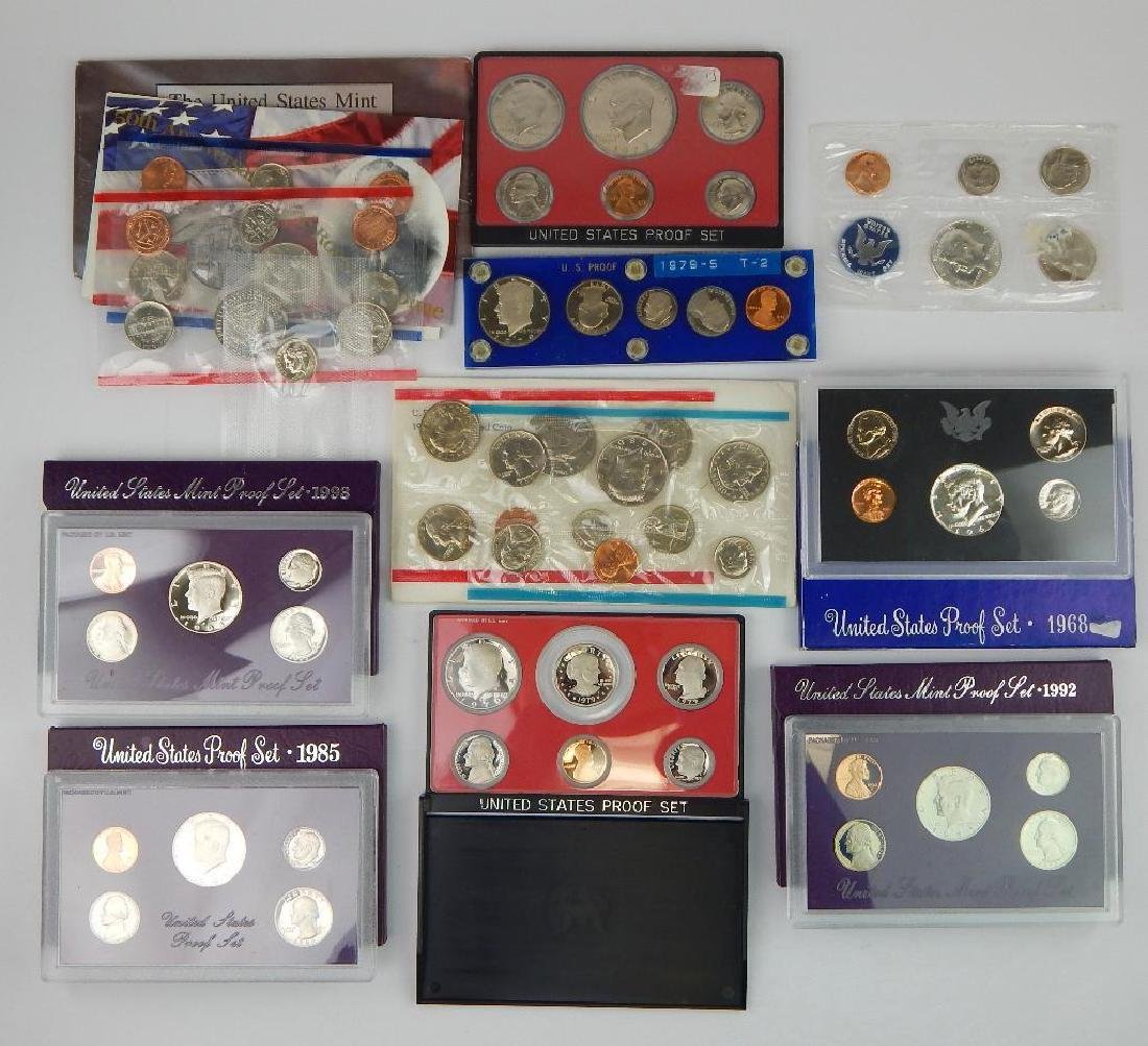 Lot of 10 Coin Sets - Uncirculated and Proof