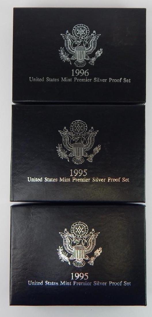 Lot of 3 : U.S. Mint Premier Silver Proof Sets