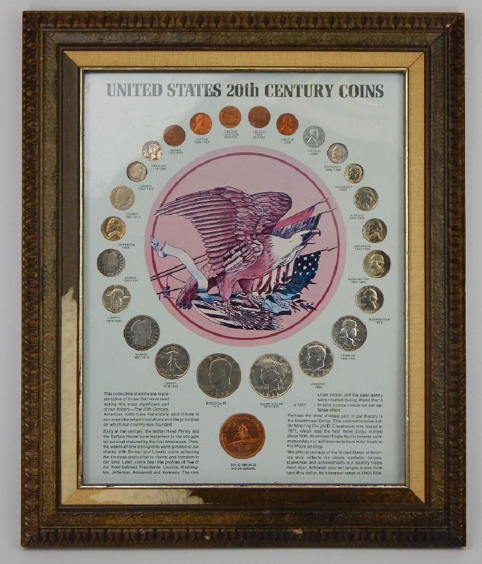 Framed Collection : United States 20th Century Coins