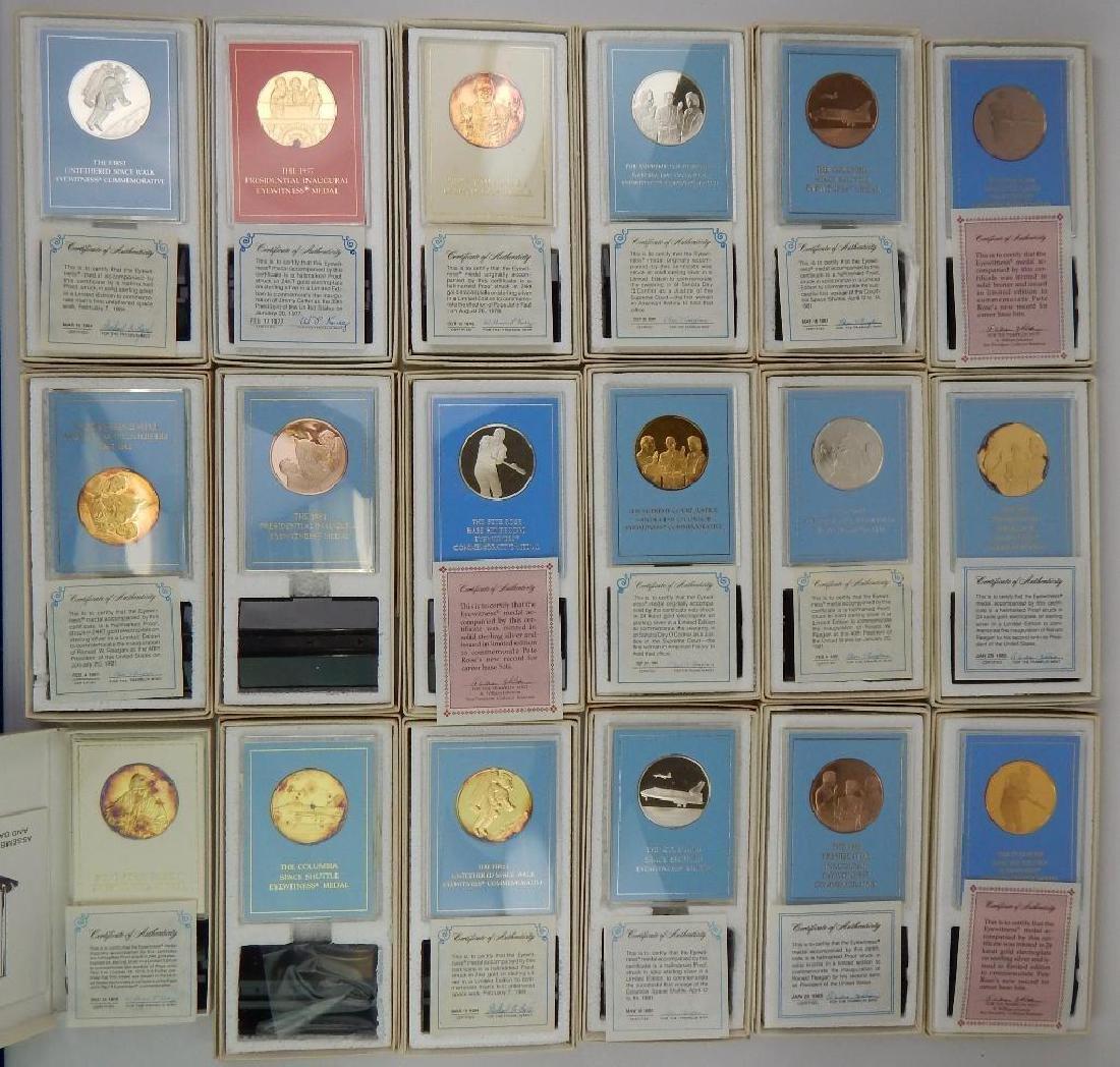Lot of 18 Commemorative Medals : Franklin Mint