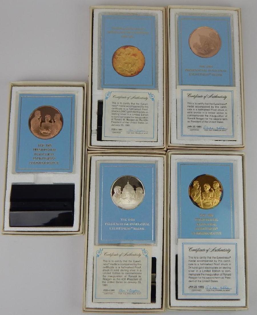 Lot of 18 Commemorative Medals : Franklin Mint - 2