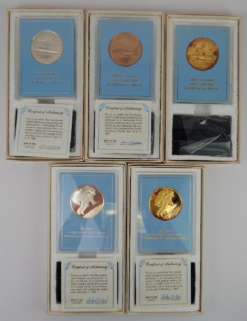Lot of 18 Commemorative Medals : Franklin Mint - 5