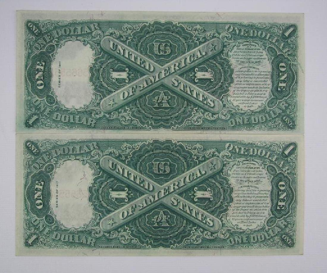 Lot of 8 : 1917 Series of $1 Legal Tender Large Size - 3