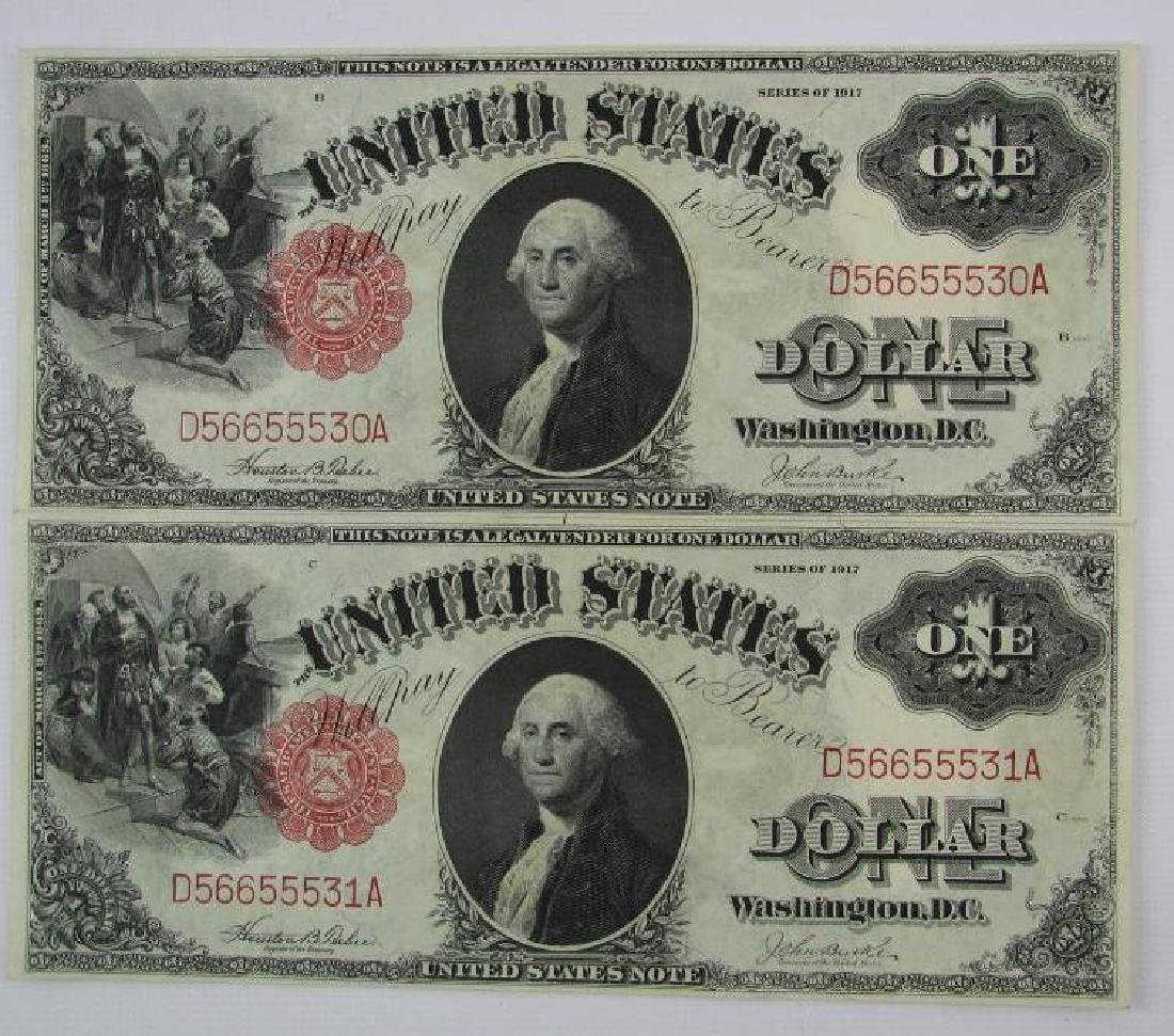 Lot of 8 : 1917 Series of $1 Legal Tender Large Size - 4