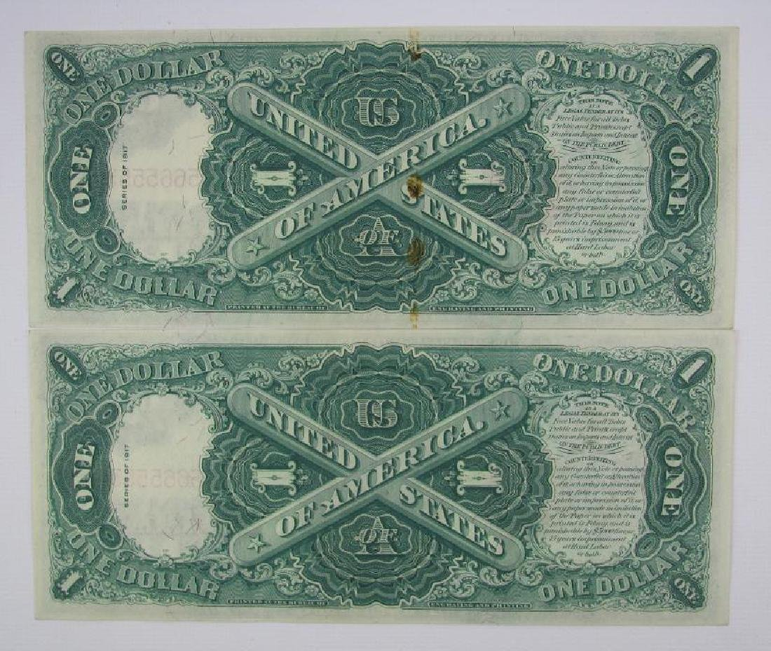 Lot of 8 : 1917 Series of $1 Legal Tender Large Size - 5