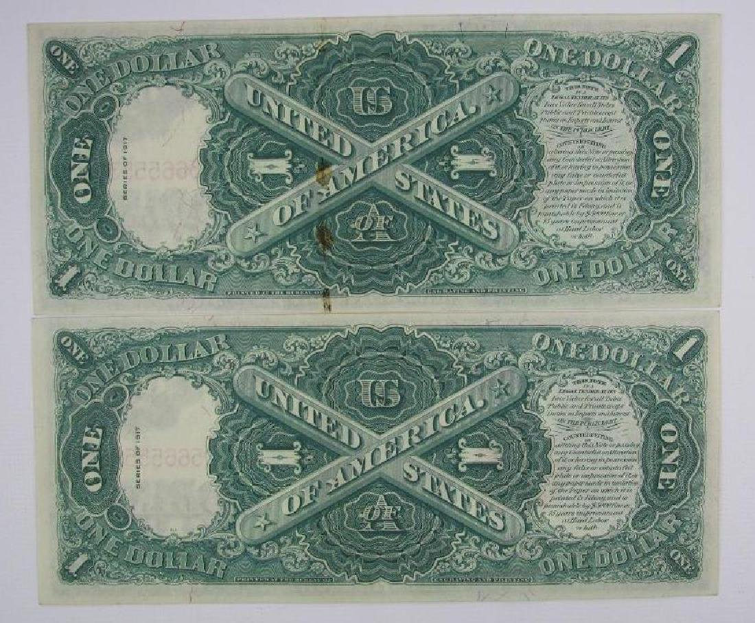 Lot of 8 : 1917 Series of $1 Legal Tender Large Size - 7
