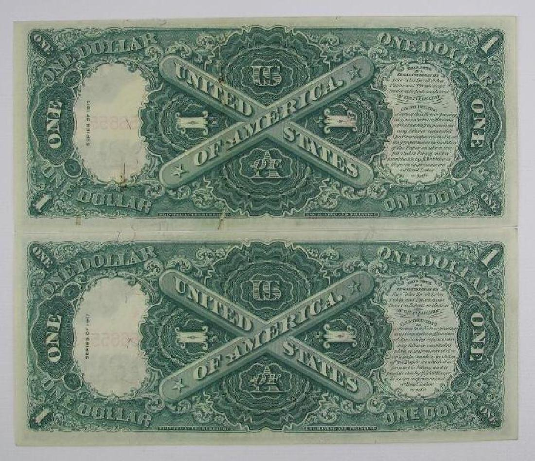 Lot of 8 : 1917 Series of $1 Legal Tender Large Size - 9