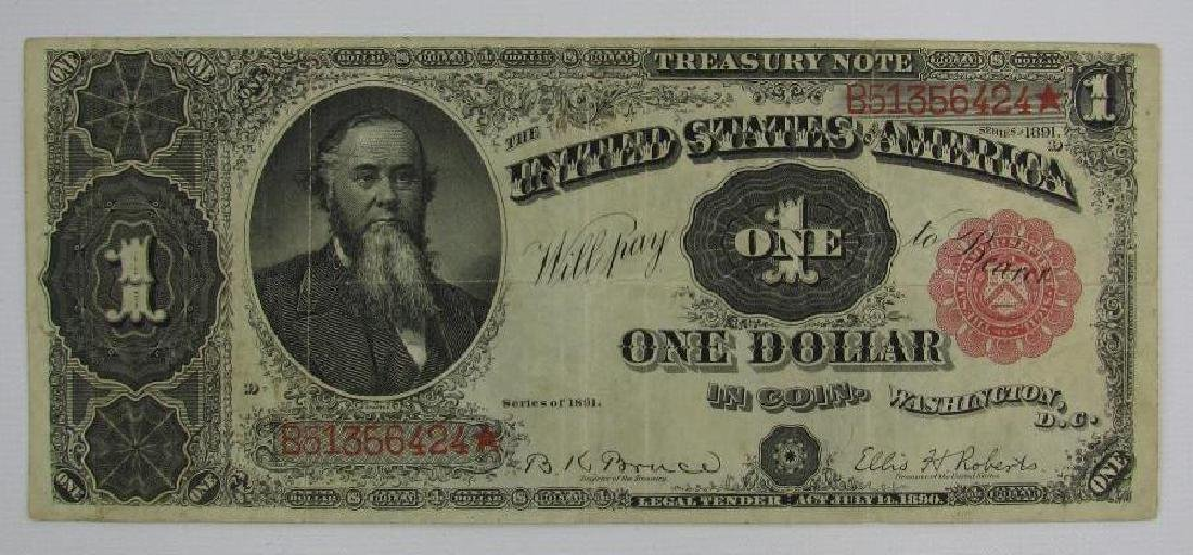 Large Size Note : Series of 1891 $1 Treasury Note