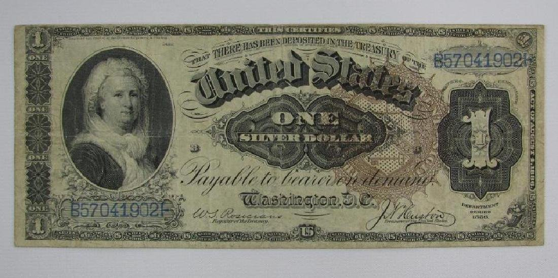 Large Size Note : Department Series 1886 $1 Silver