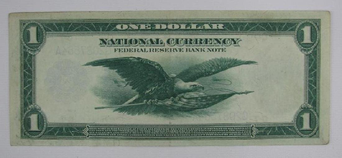 Large Size Note : 1918 Federal Reserve $1 Bank Note : - 2