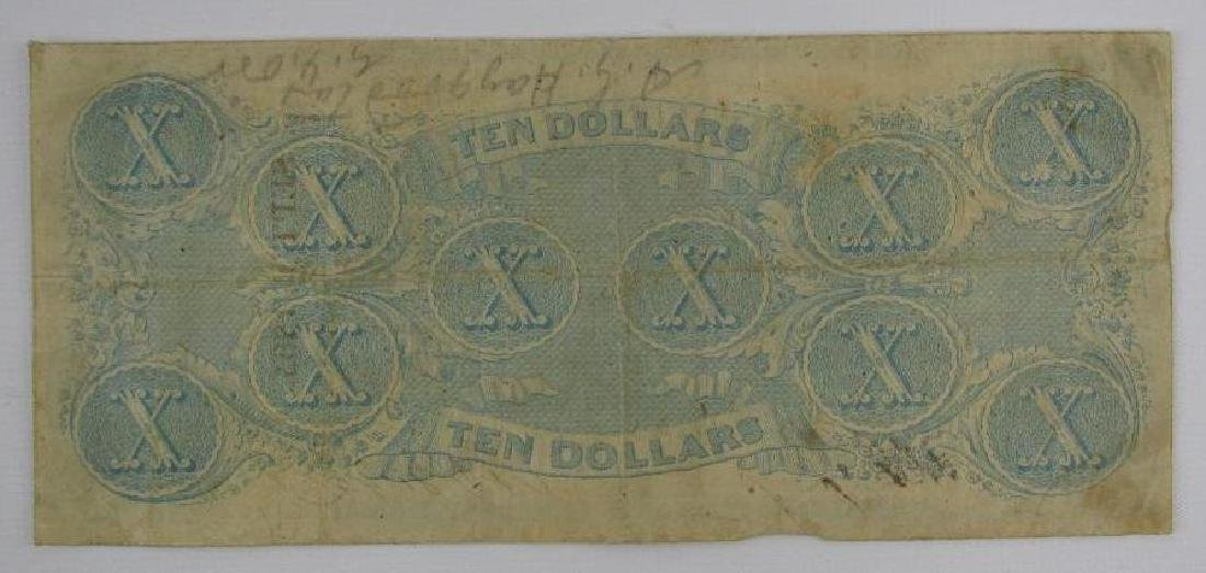 1863 ConfederateÊ$10 Bill : Richmond, Virginia - 2