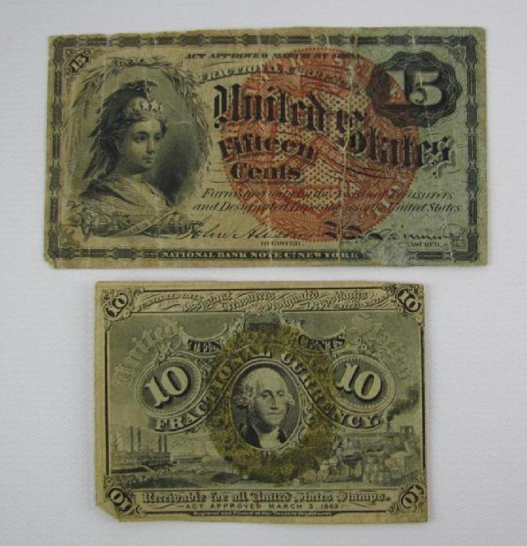 Lot of 2 : Fractional Currency - 1863