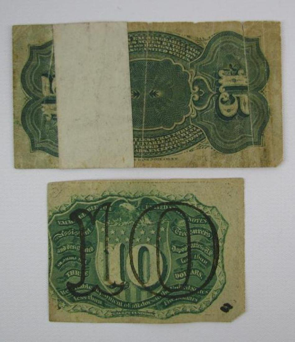 Lot of 2 : Fractional Currency - 1863 - 2