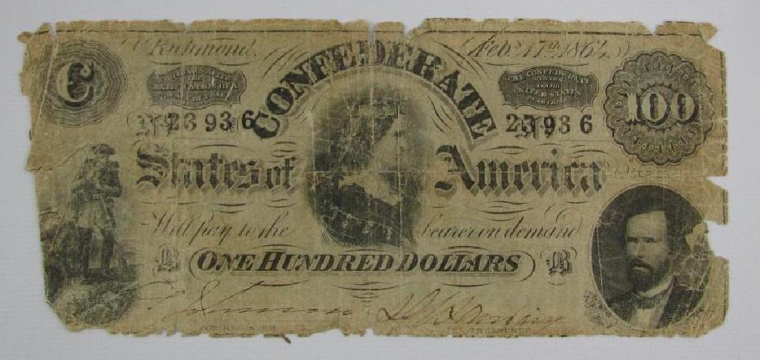 1864 Confederate $100 Bill