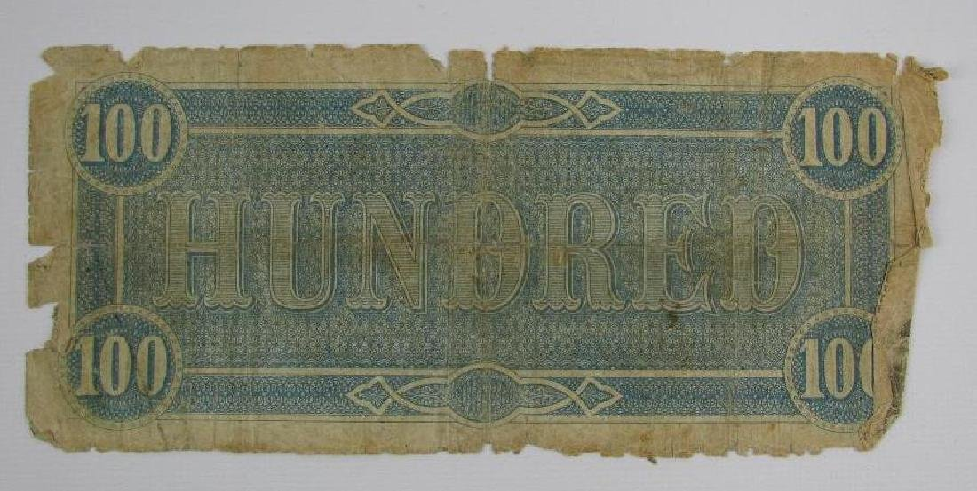 1864 Confederate $100 Bill - 2